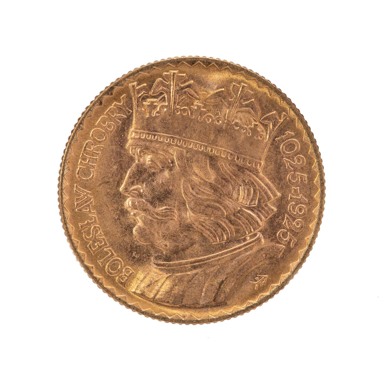 10 złotych, z okazji 900. rocznicy koronacji Bolesława Chrobrego, 1925 r.