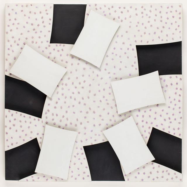 """""""Relief biało-czarno-fioletowy"""" , 1963"""