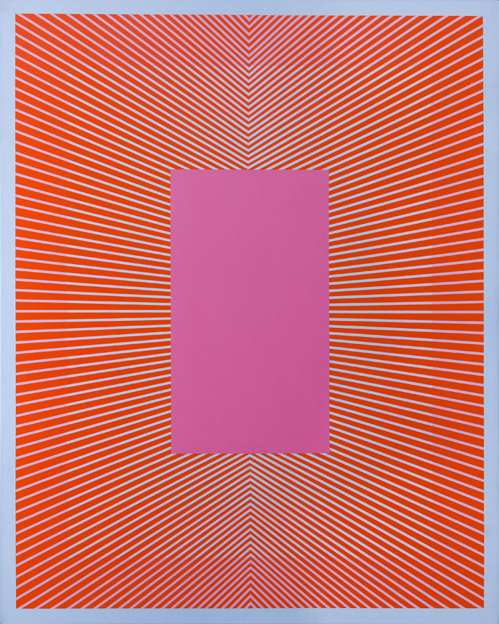 """""""Converging with Deep Pink"""", 1980"""