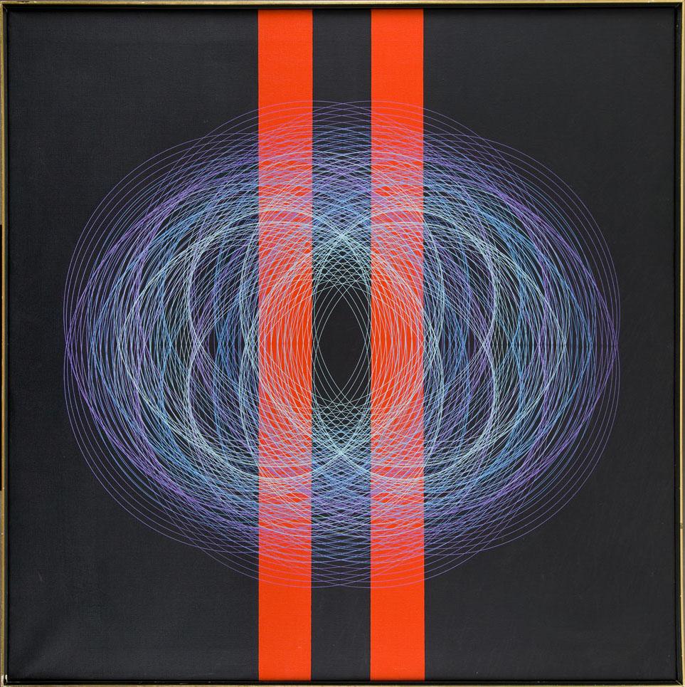 """""""Pintura generativa, interrupción de una forma por dos bandas verticales"""", 1969"""
