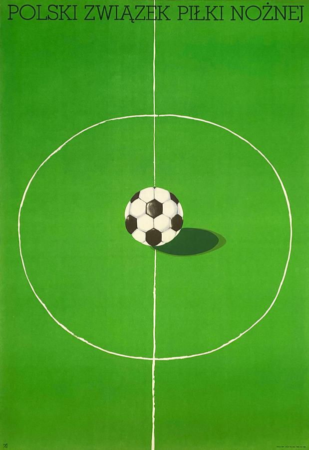 Plakat niesygnowany, Polski Związek Piłki Nożnej, 1974