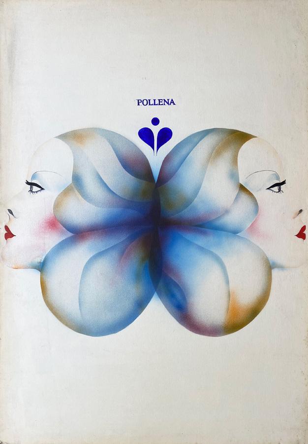 """Oryginalny projekt plakatu wystawiany na Ogólnopolskim Biennale Plakatu Polskiego w Katowicach 1975 r. """"Pollena"""", 1975"""