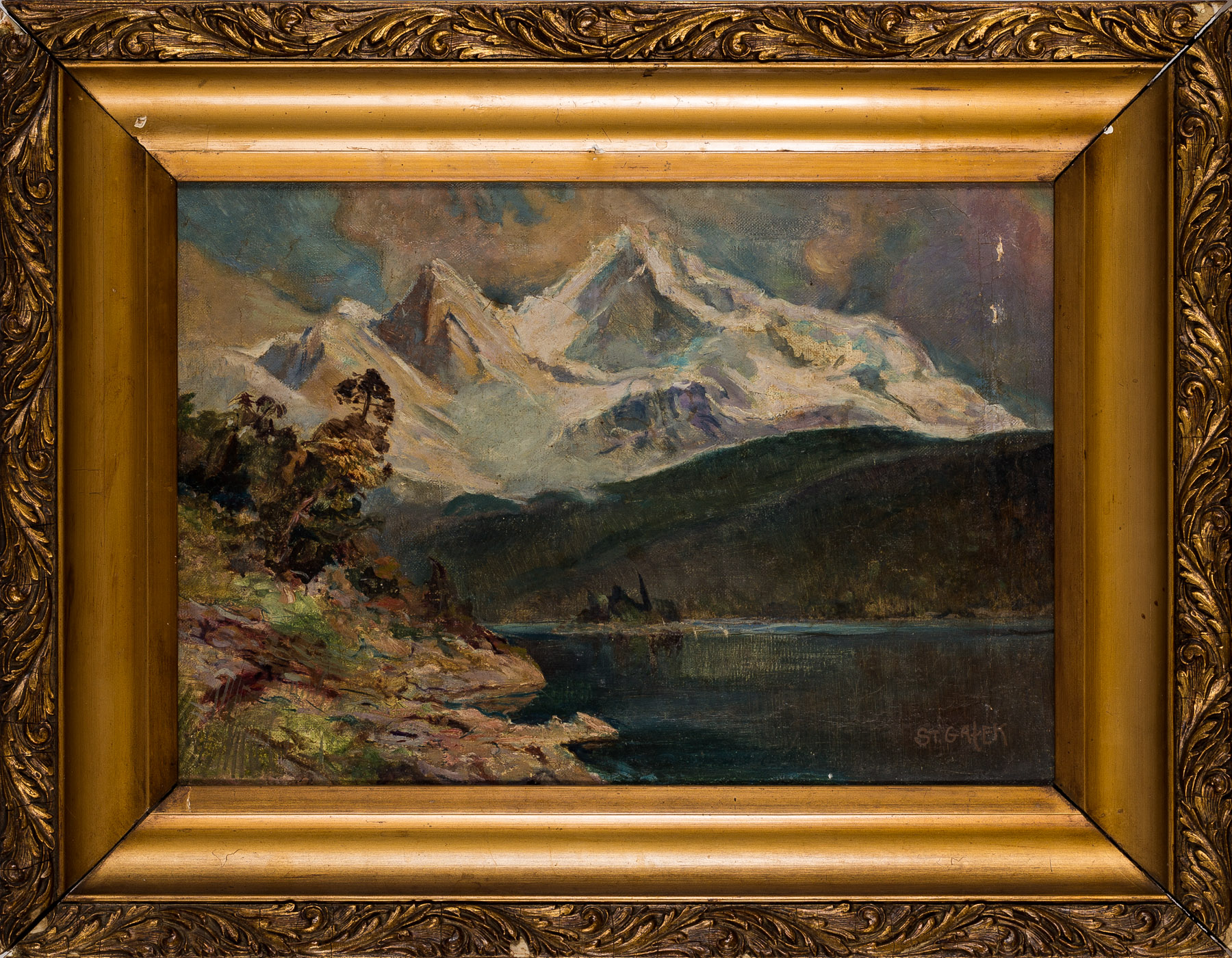 Pejzaż górski, koniec XIX wieku