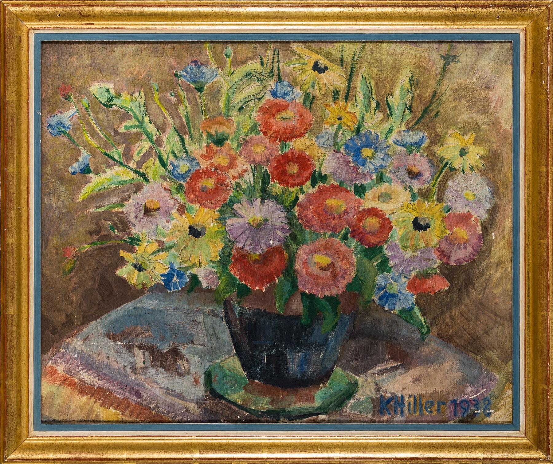 Kwiaty w wazonie, 1938