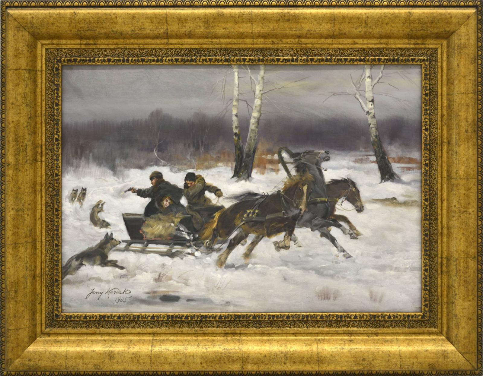 Napad wilków, 1905
