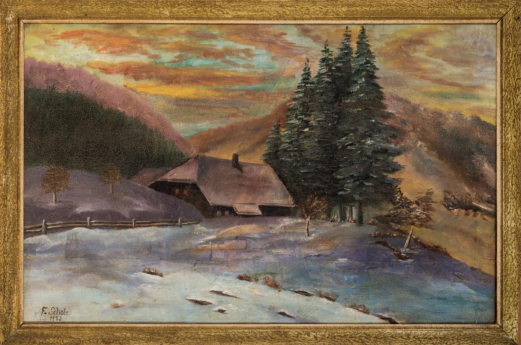 Pejzaż zimowy, 1928