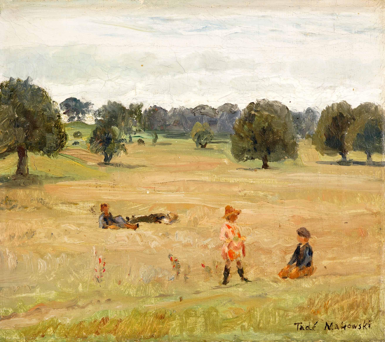 Dzieci w pejzażu, ok. 1917-1918