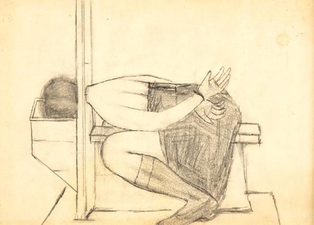 Beatrix Cenci - szkic do obrazu, ok. 1950