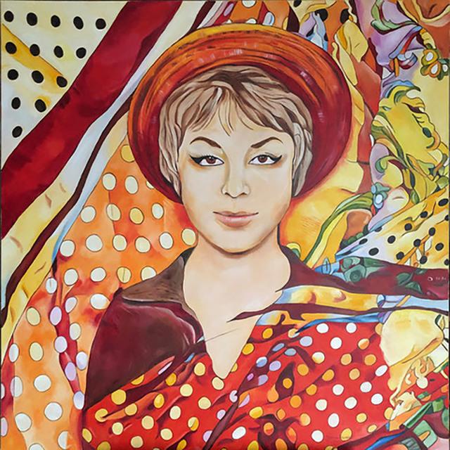 Mój pierwszy bal. Obraz powstał na wystawę poświęconą twórczości Agnieszki Osieckiej, 2020