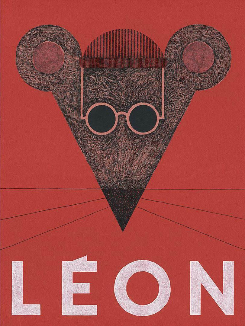Leon, grafika inspirowana filmem Luca Bessona pt Leon Zawodowiec, 2019