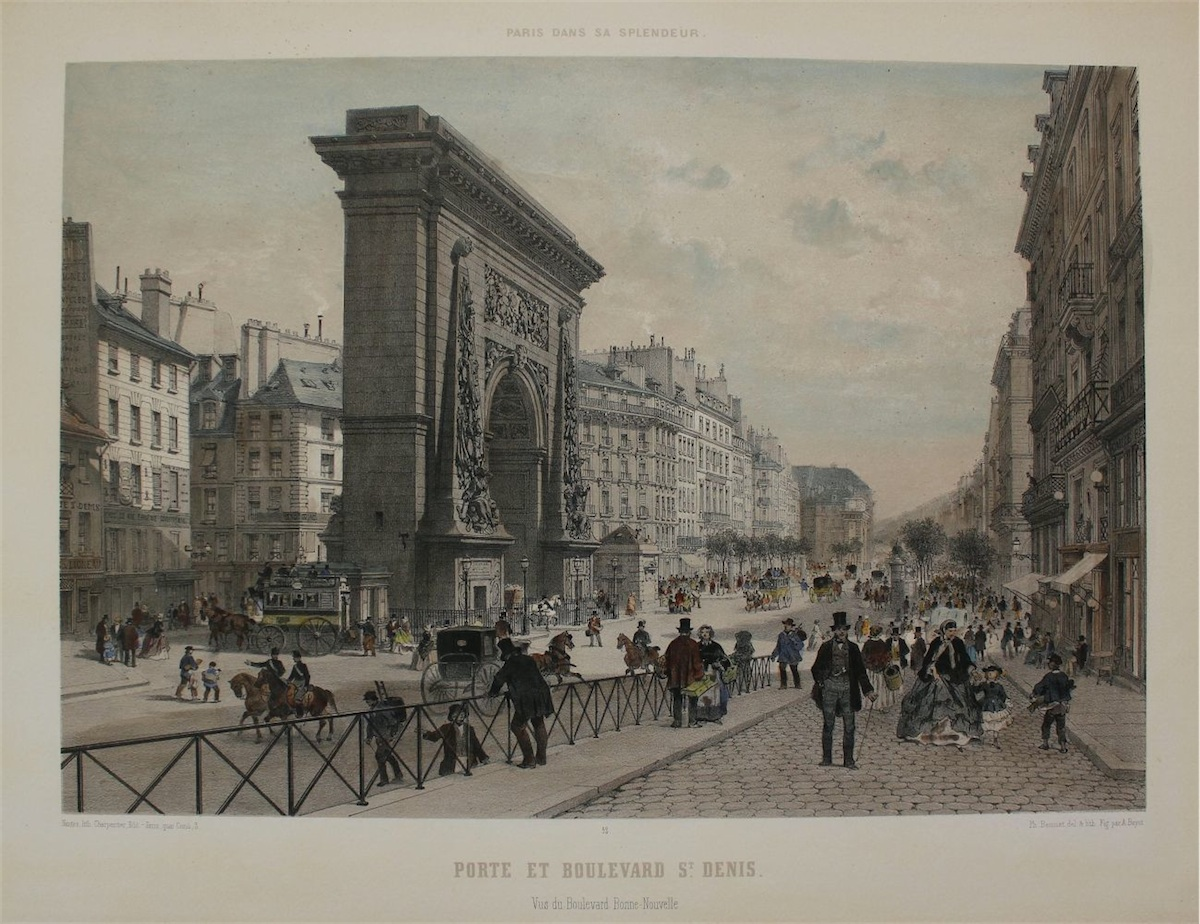 Porte et Boulevard St.Denis (z Paris dans sa splendeur)