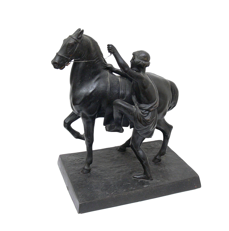 Grecki jeździec dosiadający konia, przed 1917 r.