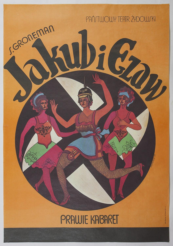 Plakat - Jakub i Ezaw. Prawie kabaret - Marian STACHURSKI (1931-1980) - projektant
