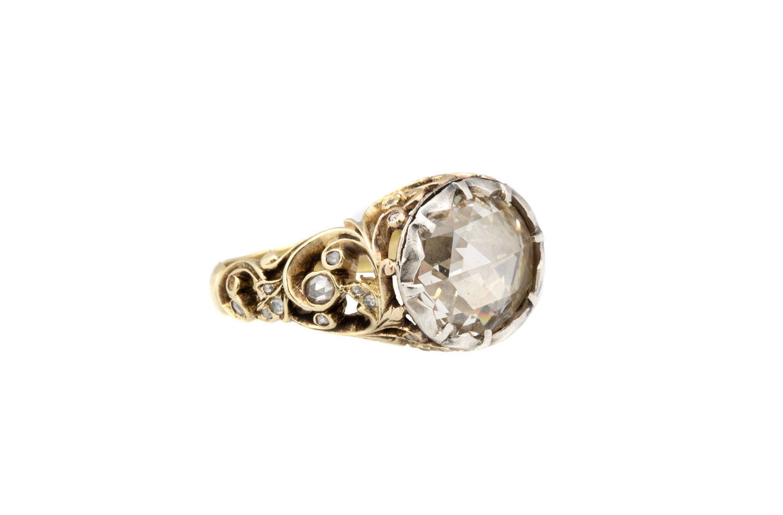 Pierścień z rozetą diamentową, 2 poł. XIX w.