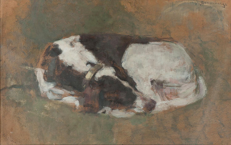 ADOPCJA: Olga Boznańska (1856-1940), Śpiący pies, przed 1902