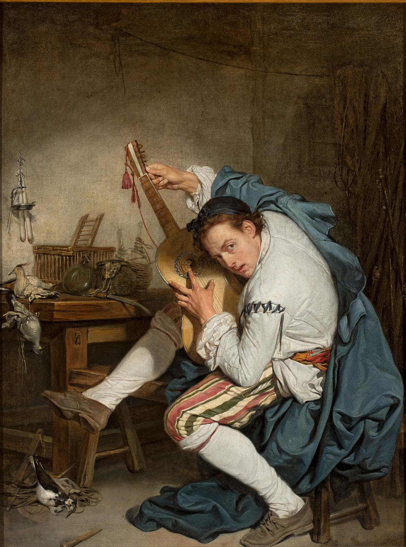 ADOPCJA: Jean-Baptiste Greuze (1725–1805), Gitarzysta, 1755–1757