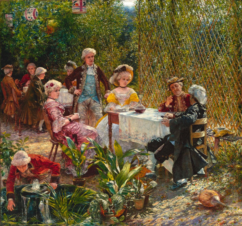 ADOPCJA: Aleksander Gierymski (1850-1901), W altanie, 1882