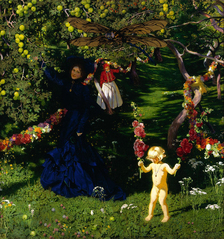 ADOPCJA: Józef Mehoffer (1869-1946), Dziwny ogród, 1902-1903