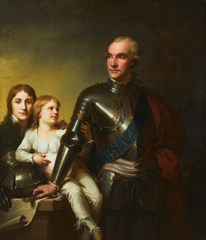 ADOPCJA: Jan Chrzciciel Lampi (1788-1790), Stanisław Szczęsny Potocki z synami Stanisławem i Szczęsnym Jerzym