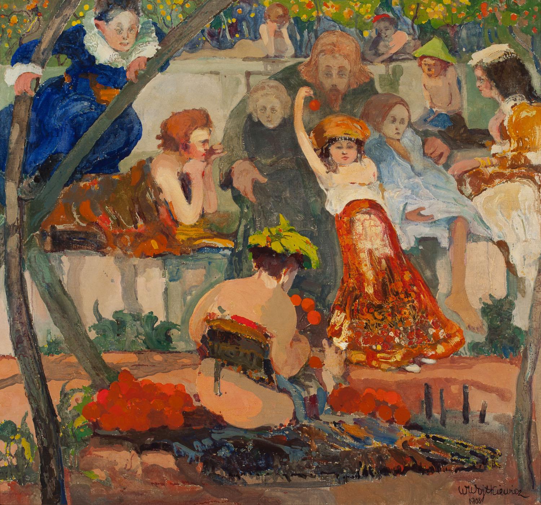 ADOPCJA: Witold Wojtkiewicz (1879-1909), Chrystus i dzieci, z cyklu Ceremonie, 1908