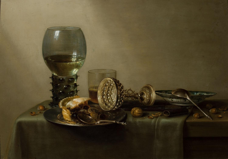 ADOPCJA: Willem Claesz Heda (1594-1680), Deser: martwa natura z ciastem, winem, piwem i orzechami, 1637
