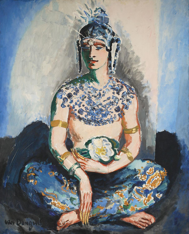 ADOPCJA: Kess van Dongen właśc. Cornelis Teodorus Maria van Dongen (1877- 1968), Portret Antoniego Cierplikowskiego w stroju orientalnym, ok. 1927