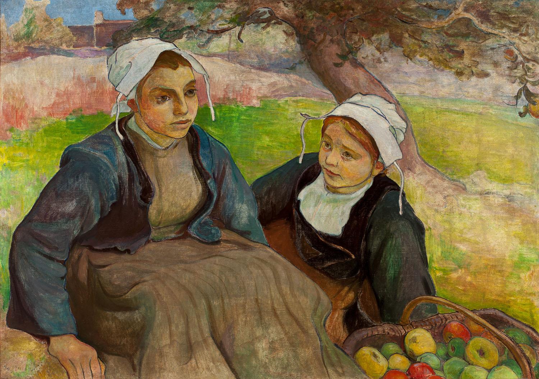 ADOPCJA: Władysław Ślewiński (1856-1918), Dwie Bretonki z koszem jabłek, ok. 1897