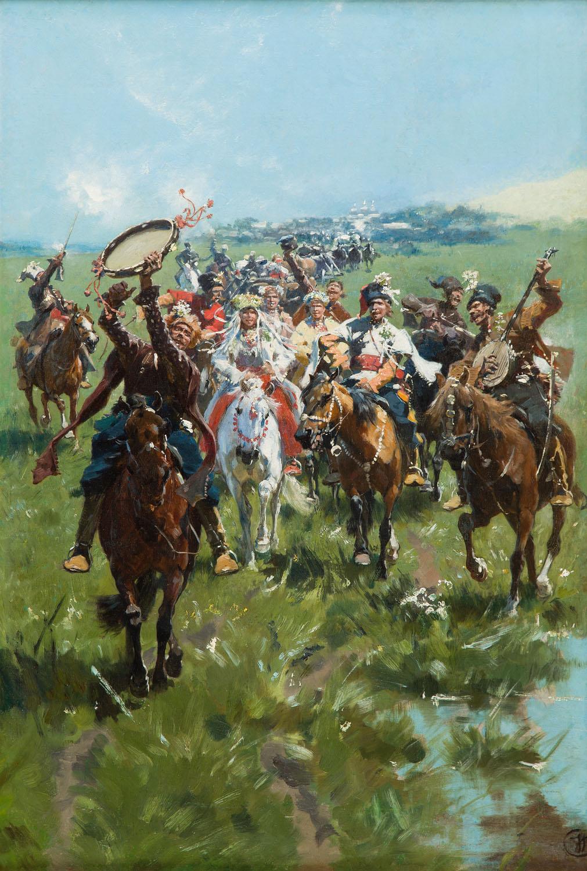 """""""Wesele na Ukrainie"""", około 1895"""