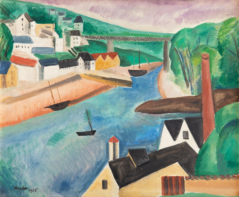 Pejzaż kubistyczny z rzeką, 1915