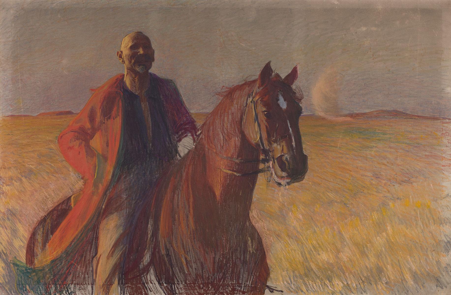 Autoportret konny / Powitanie stepów, 1892