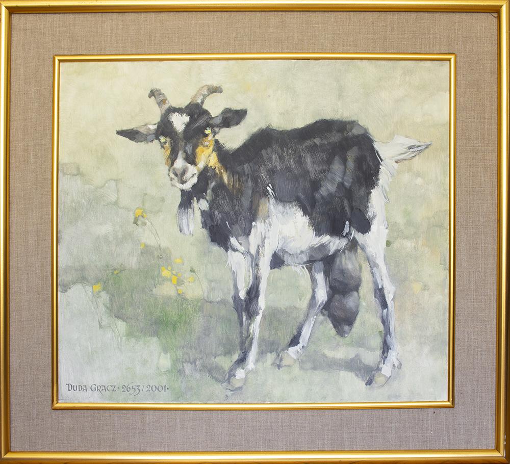 Obraz 2653. Nadrzecze - koza - studium, 2001