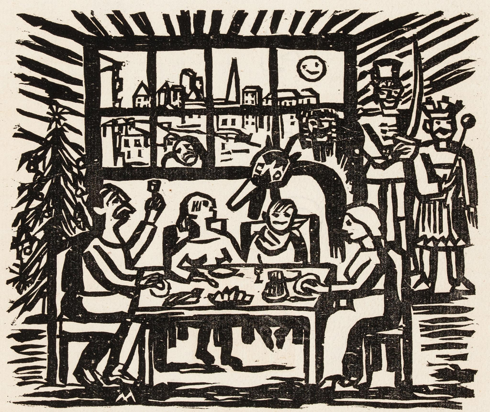 """""""Kolacja wigilijna"""", 1925 rok"""