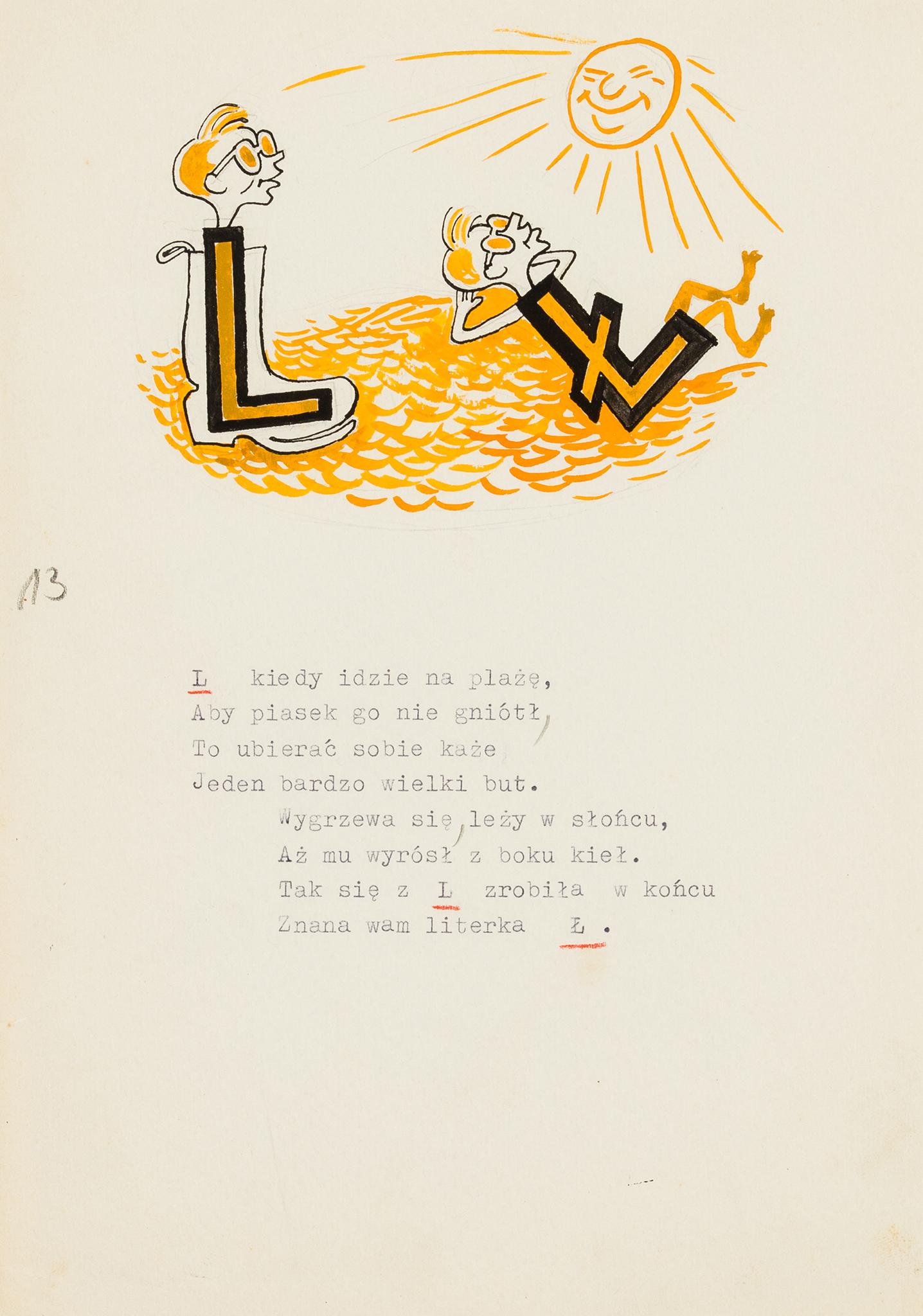 """""""Literki L i Ł"""" z cyklu """"Literki uciekinierki"""", 1946 rok"""