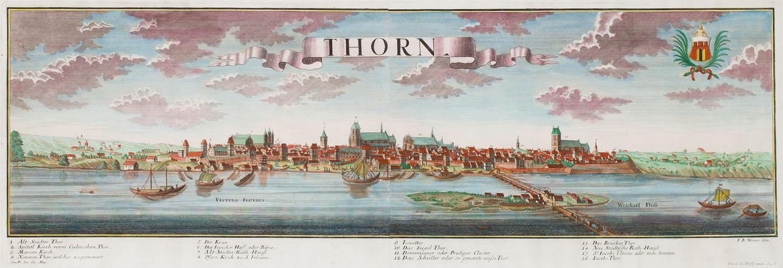 Widok Torunia (Thorn), 1730