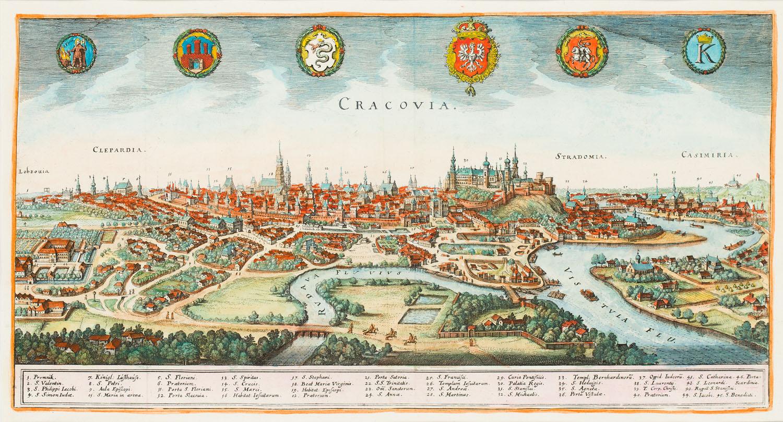 Widok Krakowa (Cracovia), 1638