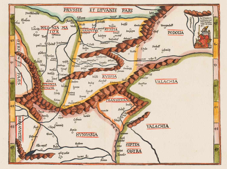 Mapa Europy Środkowej, 1535