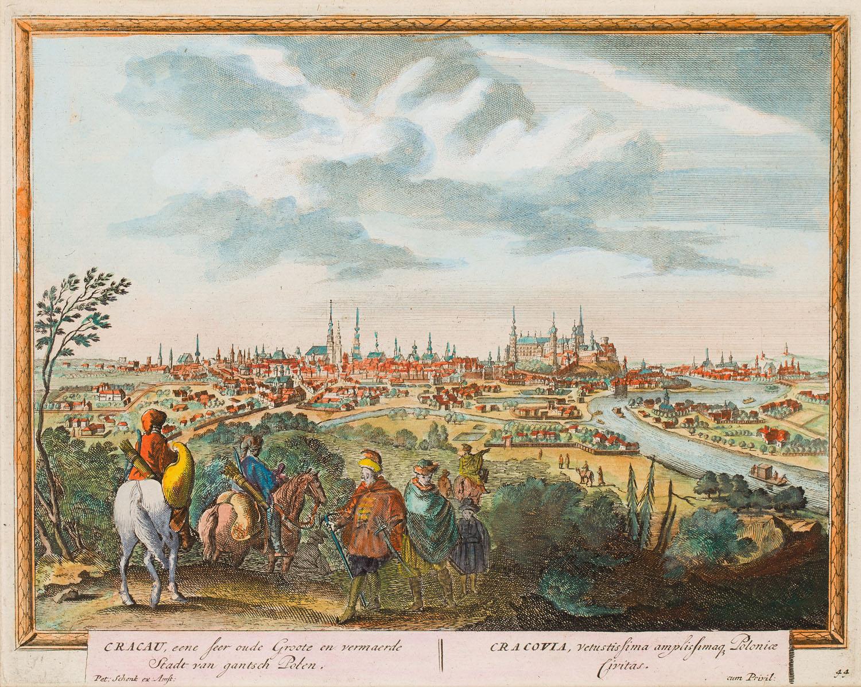 Widok Krakowa, 1702