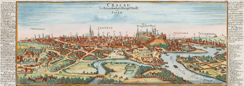 Widok Krakowa (Cracau Die Fürnehmbste Haupt Stadt in Polen), 1720
