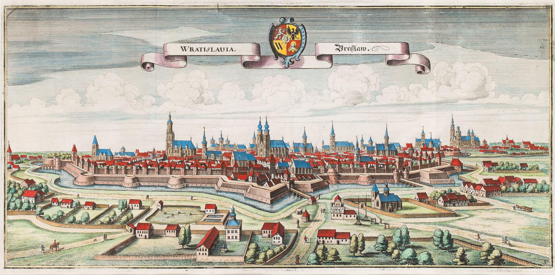 Panorama Wrocławia od południa (Wratislavia - Breslaw), 1650