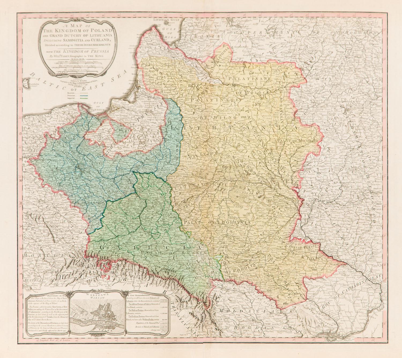 Mapa Polski (stan trzeci mapy z 1792), 1799