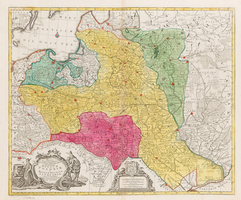 Mapa Polski (stan trzeci mapy z 1759), 1764