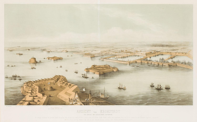 Widok Kronsztadu (Ansicht von Kronstadt), 1854