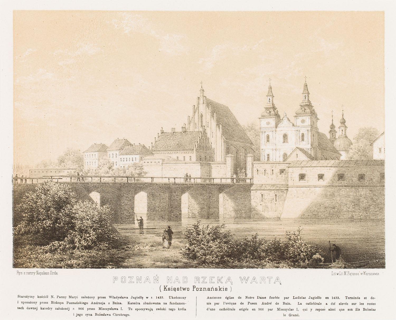 Poznań nad rzeką Wartą, 1880