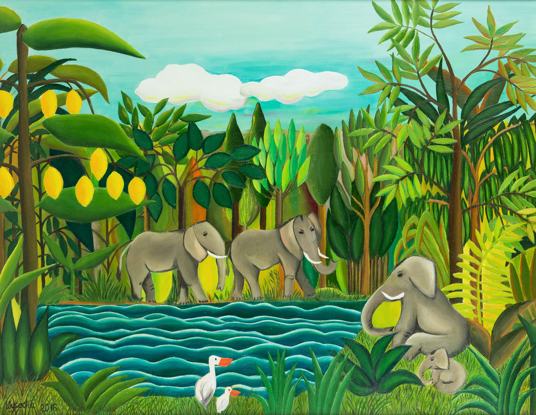 Zwierzęta u wodopoju, 2016