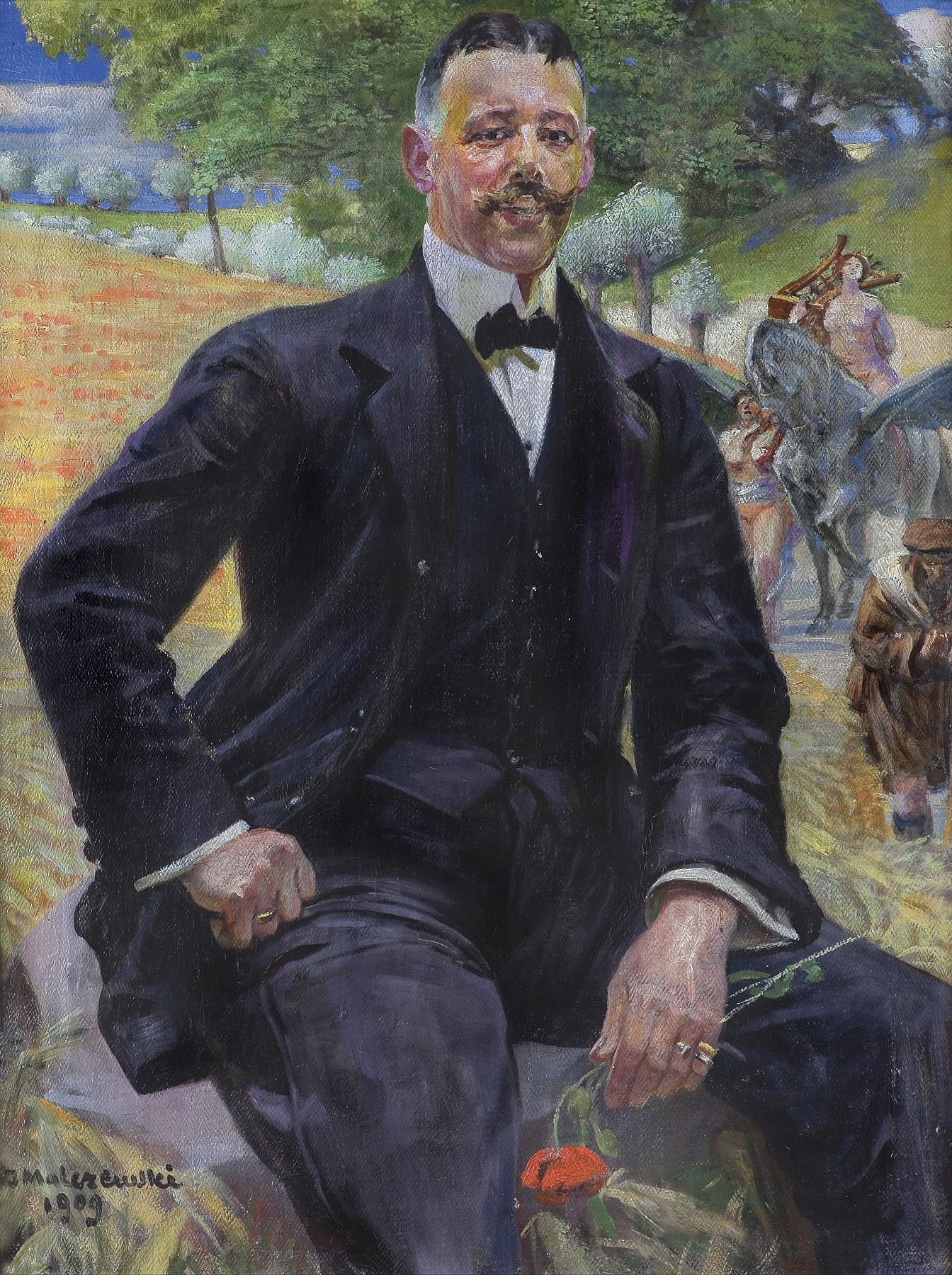 PORTRET MĘŻCZYZNY Z CZERWONYM MAKIEM, 1909