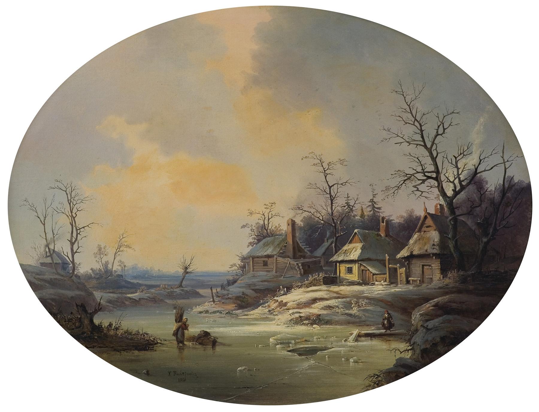 KRAJOBRAZ ZIMOWY, 1856