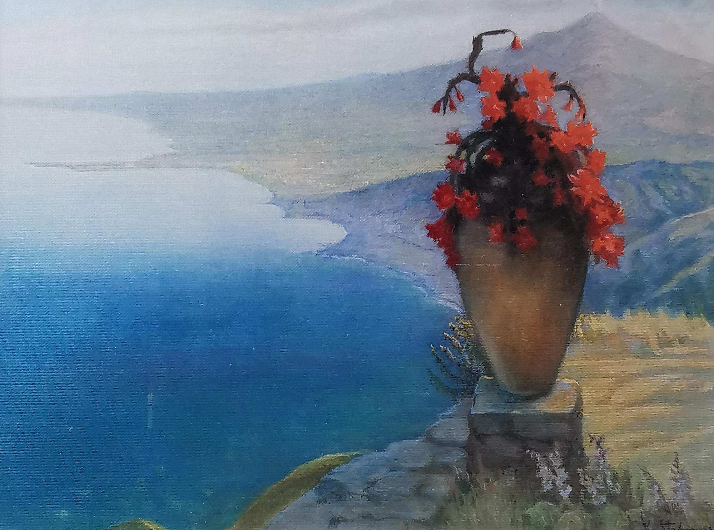 Widok Taorminy, 1901 - reprodukcja barwn