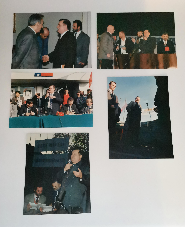 Lech Wałęsa - zestaw 5 fotografii