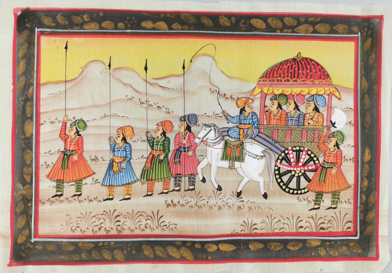 Cykl 5 obrazków indyjskich Rajastan (?)
