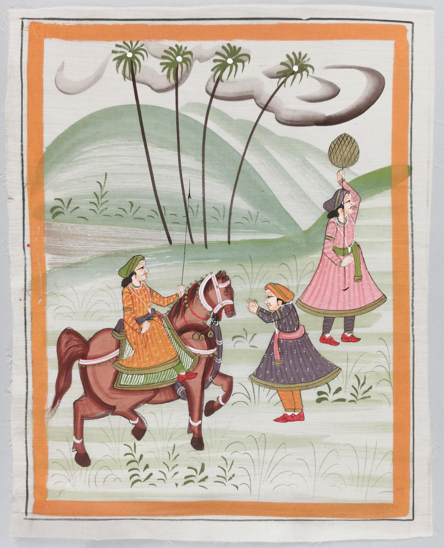 Cykl 3obrazków indyjskich Rajastan (?)